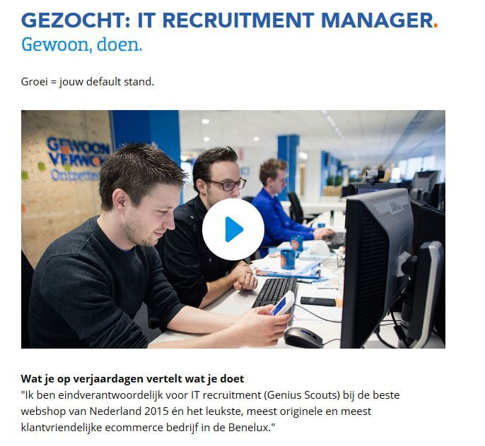 recruitment manager gevraagd coolblue