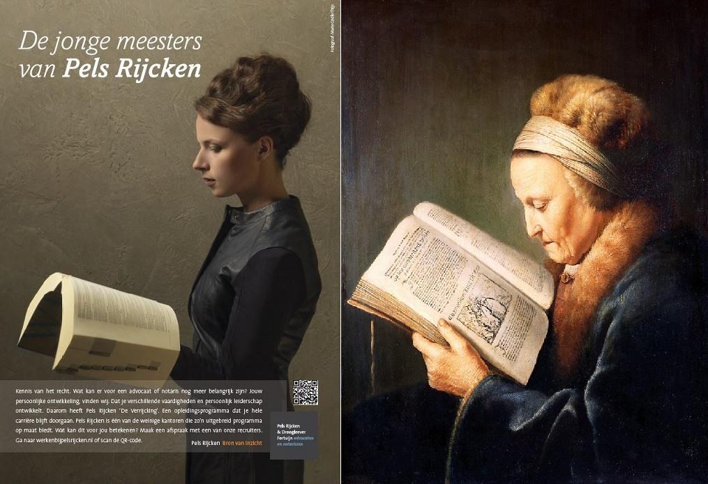 jonge meesters lezende oude vrouw plus origineel