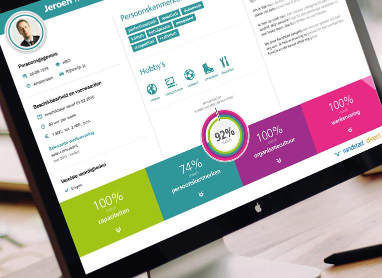 Innovatief matchalgoritme selecteert op basis van toekomstig werksucces (Randstad)