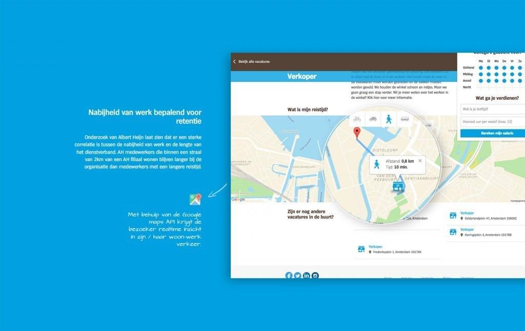 Werk.ah.nl, recruitmentwebsite geredeneerd vanuit wensen van doelgroep (Albert Heijn / Endouble)