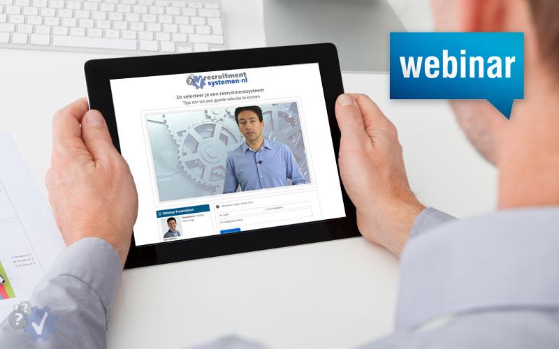 Webinar 7 juli: Zo selecteer je een recruitmentsysteem [adv]