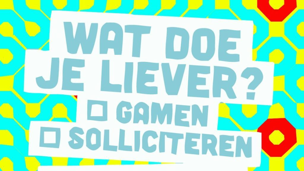 Wat doe je liever: gamen, of solliciteren? (PlaytoWork)