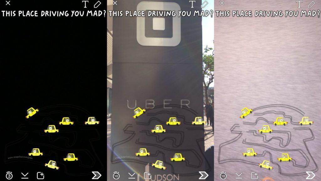 snapchat uber