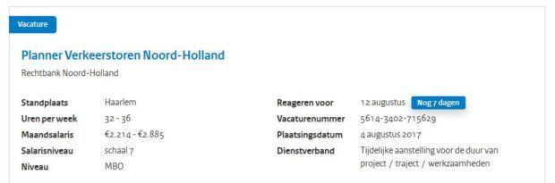 werken voor nederland procedure informatie
