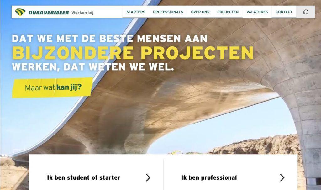 dw werken bij dura vermeer