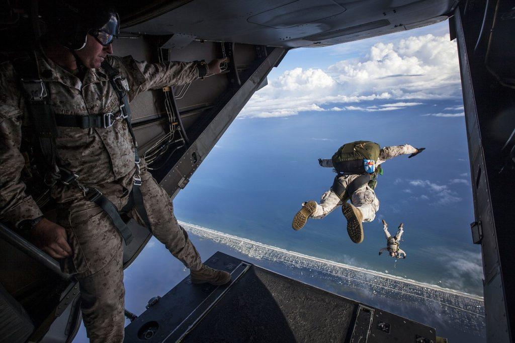 militairen duik in het diepe