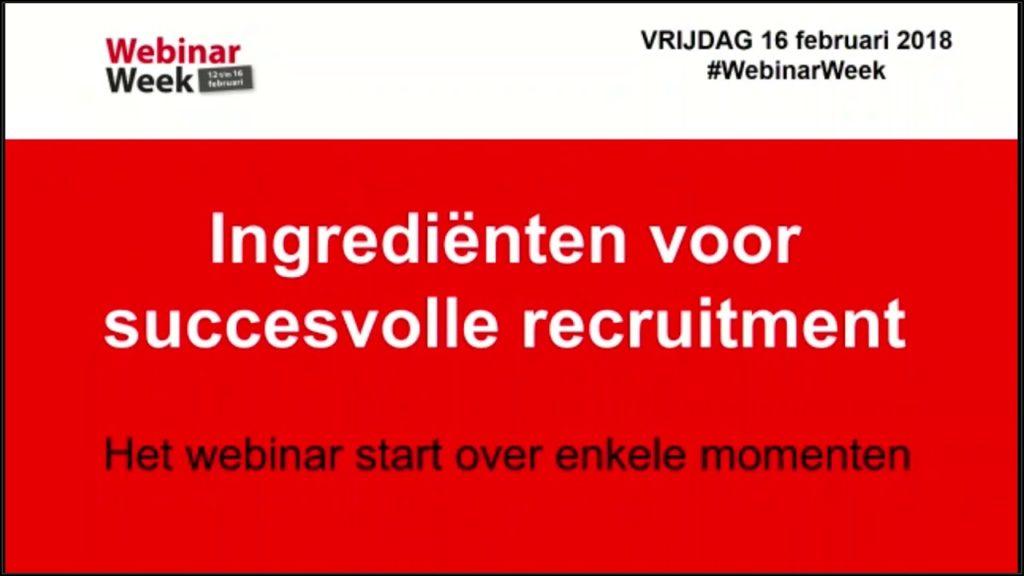 Dit leerden we tijdens de Webinar Week over de ingrediënten voor succesvol recruitment