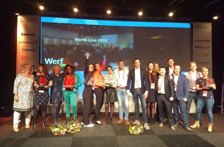 ErasmusMC, Jobsrepublic (voor I-Sec), Reinier de Graaf en Rijksoverheid winnen Werf& Awards van 2018