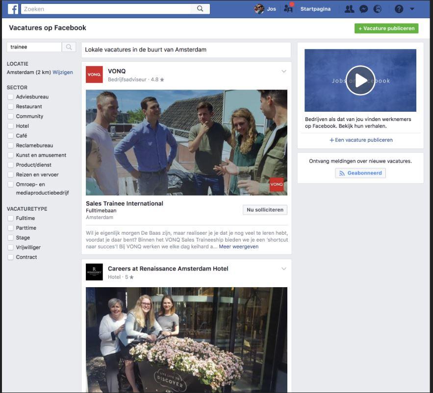 facebook jobboard