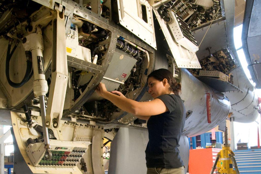 niet- militairen vliegtuigonderhoud