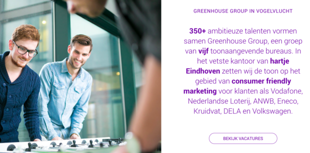 greenhouse group voorbeeld