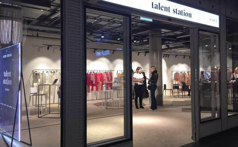zara talent station pp-up store
