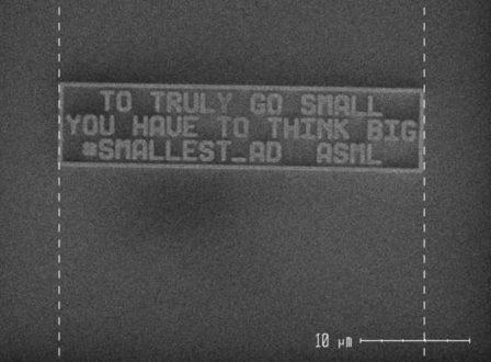 kleinste advertentie ooit asml vacatures