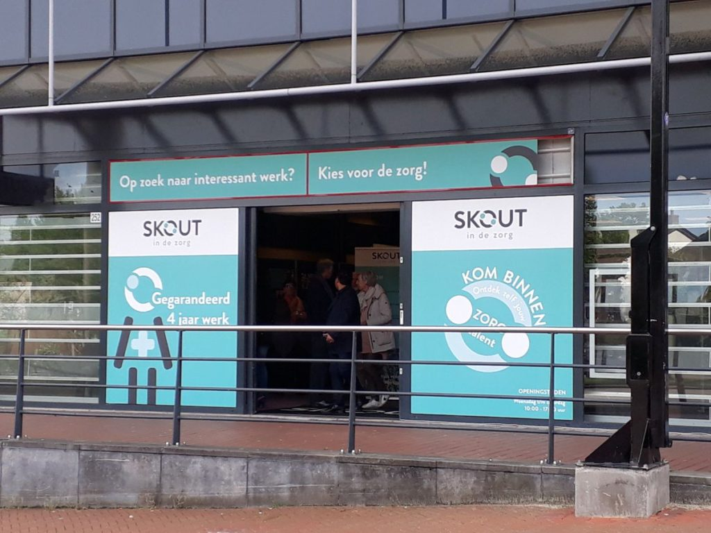 pop-up store skout in de zorg