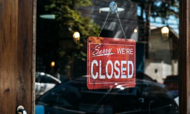 sorry we're closed gevaar