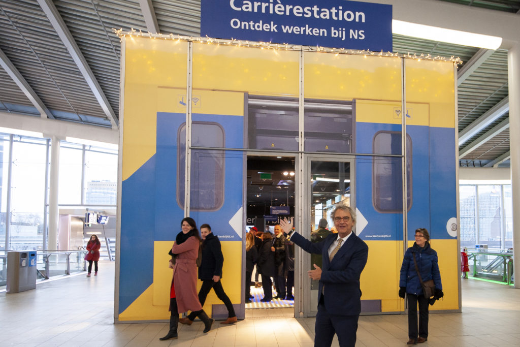 Als een trein: het pop-up Carrièrestation van de NS op Utrecht Centraal