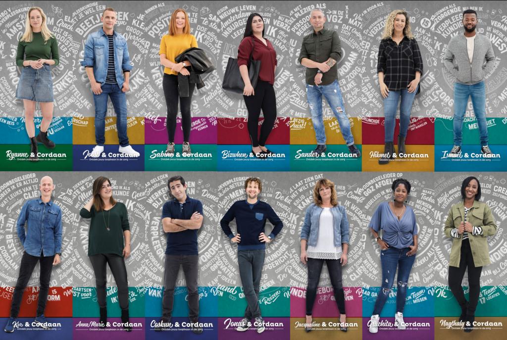Meerjarige employer branding campagne 'Ontdek jouw loopbaan in de zorg' (inzending Cordaan)
