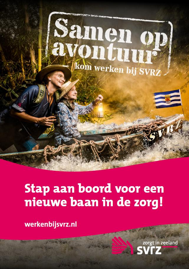 Out of the box campagne voor de zorg 'Samen op avontuur' (Inzending SVRZ)