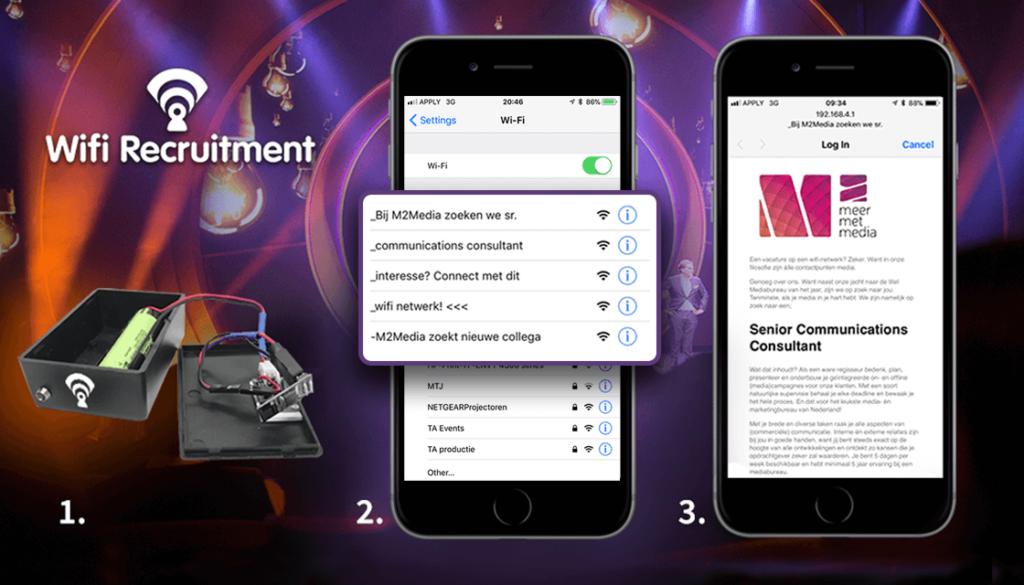 Mediabureau kaapt wifi om vacature creatief onder de aandacht te brengen (inzending M2Media)