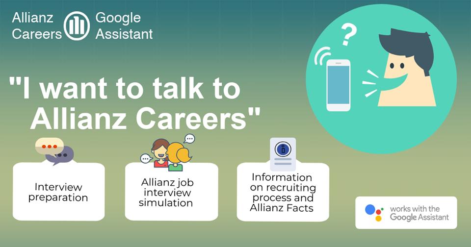 Hoe Allianz met 'Google Assistant' zijn sollicitanten helpt om een gesprek te oefenen
