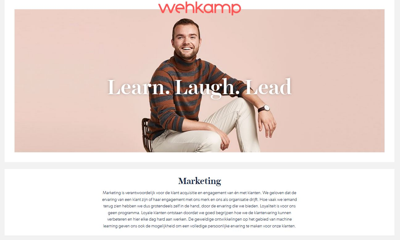 wehkamp marketing vacatures