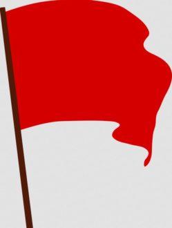 rode vlag bedankje