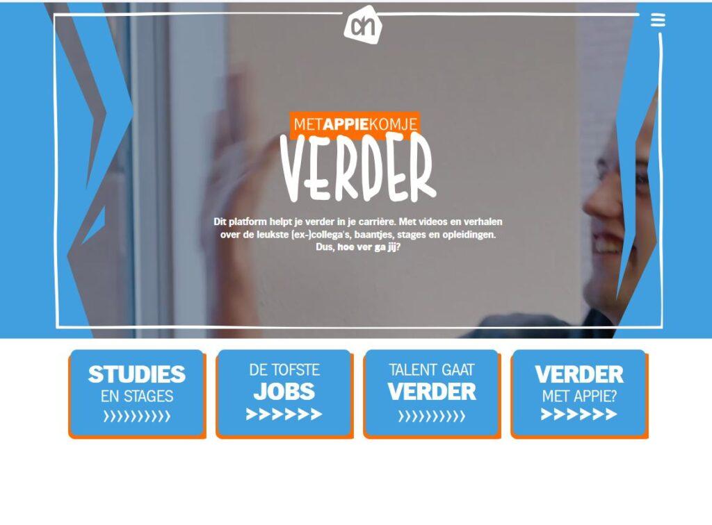'Met Appie kom je verder': de site waarmee Albert Heijn zijn vakkenvullers een springplank biedt