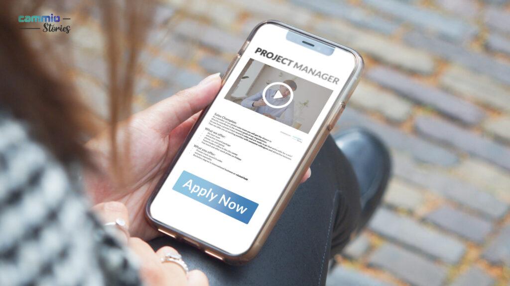 Video Recruitment Platform Cammio introduceert Stories – boost conversie met videovacatures