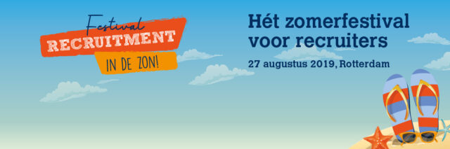 mede-werver recruitment festival in de zon