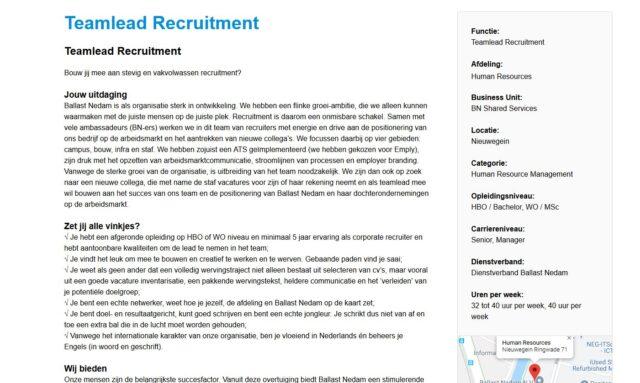 ballast nedam bn'er teamlead recruitment