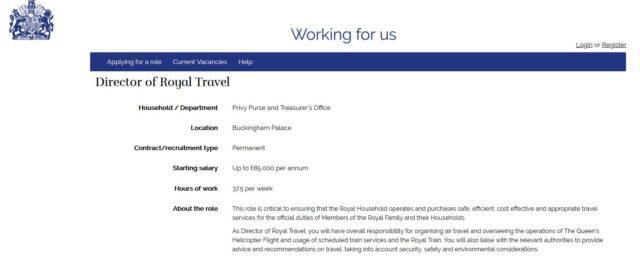 director of royal travel voor meghan en harry