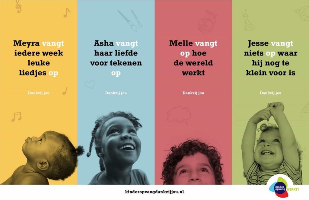 Campagne van de week: hoe de Kinderopvang het begrip 'opvang' meer betekenis geeft