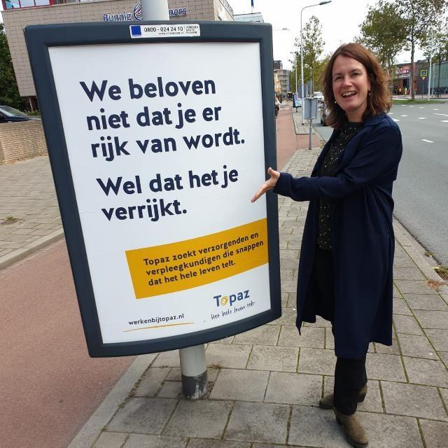 'Het hele leven telt'-campagne bij ouderenzorgorganisatie Topaz (inzending Topaz)