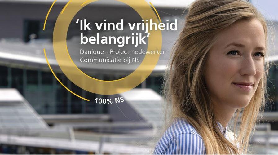 Kernwaarden en EVP als basis voor wervingscampagne: 'Hoeveel % NS ben jij?' (inzending NS)