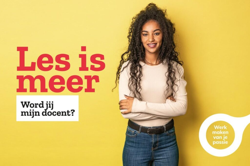 Campagne van de week: 'Les is meer', de briljante pay-off van ROC Friese Poort
