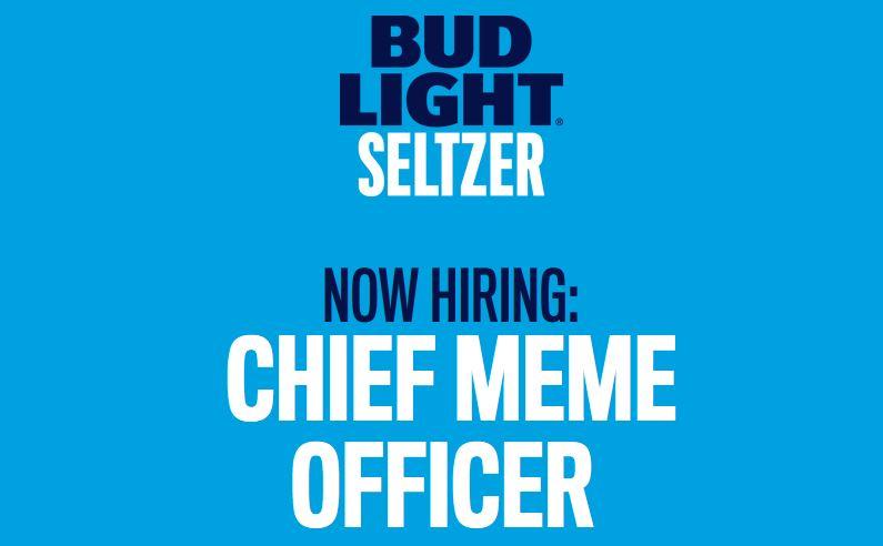 Feel Good Friday: hoe Bud Light een professionele meme-maker zoekt