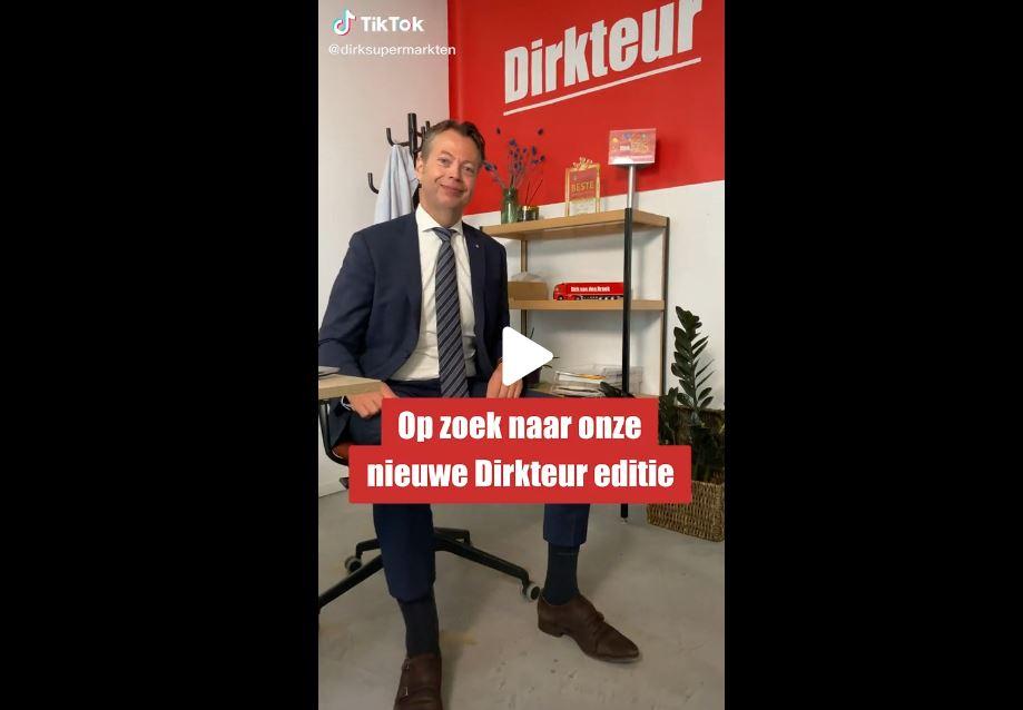 Supermarktketen Dirk laat kandidaten nu ook solliciteren met een TikTok-video