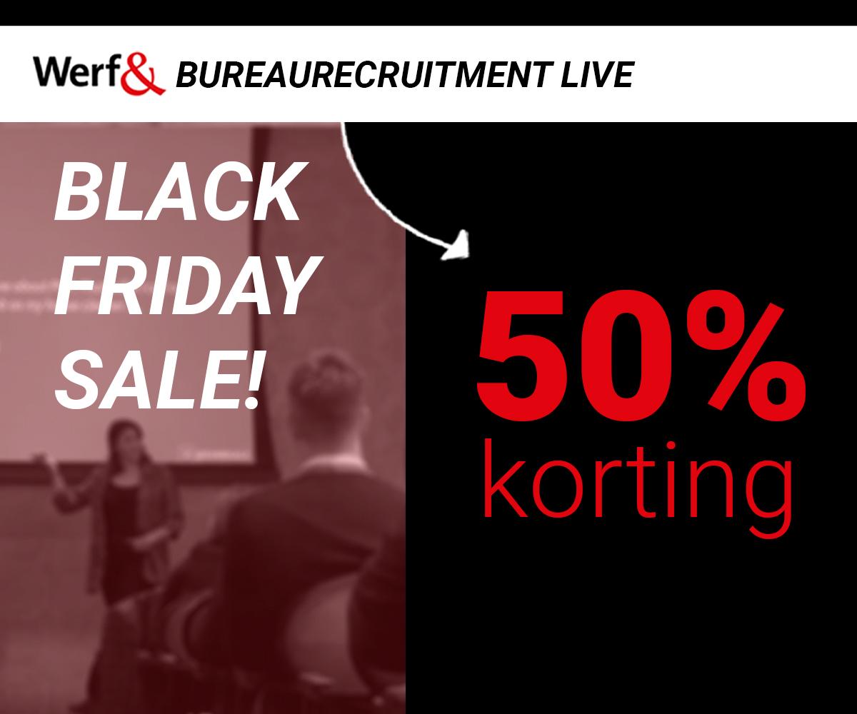 50% korting Werf& Bureaurecruitment Live