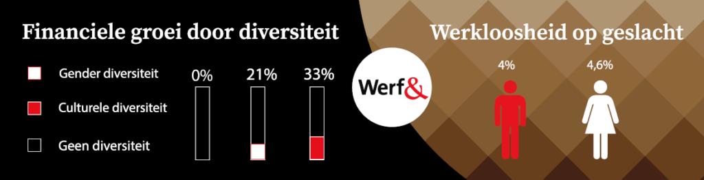 Werf& Statistieken Diversiteit & Inclusiviteit internationale vrouwendag