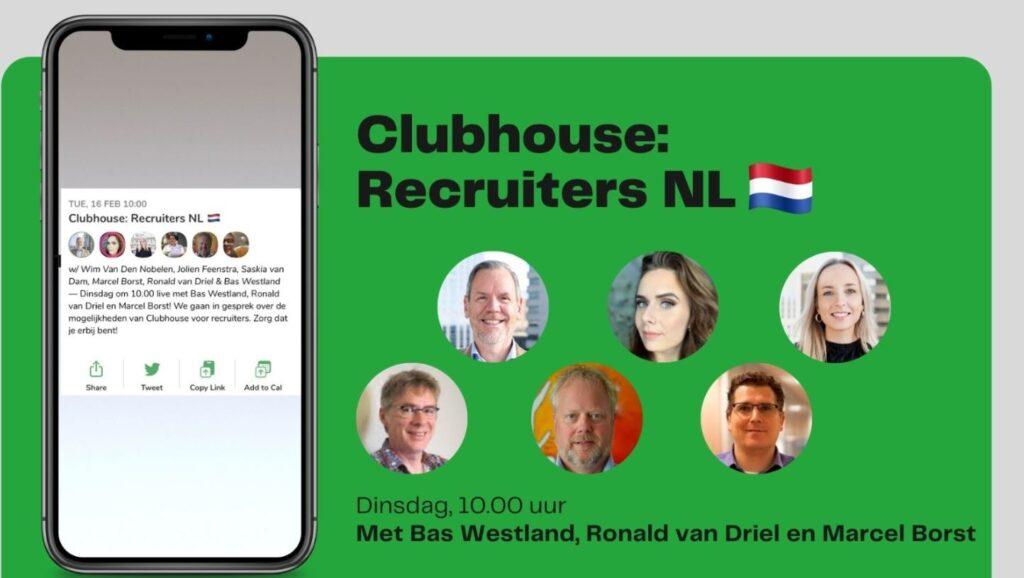 Wim op woensdag: Alle recruiters verzamelen! (Op Clubhouse...)