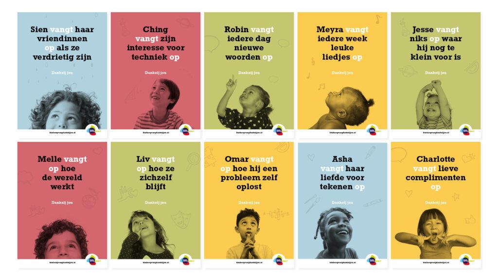 Wervings- en imagocampagne Kinderopvang Dankzij Jou (inzending Kinderopvang werkt!) personeelstekorten kinderopvang