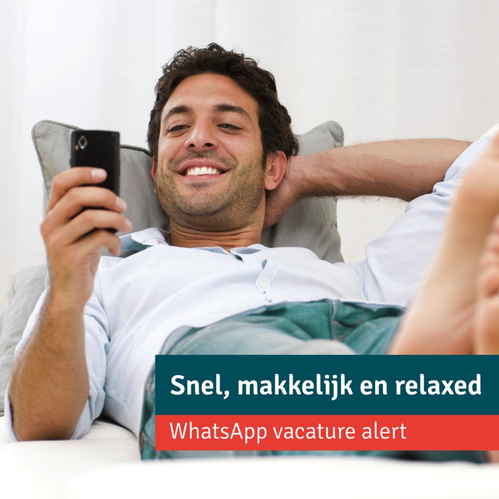 Snel, makkelijk en relaxed! De nieuwste vacatures via WhatsApp (inzending Redwave)