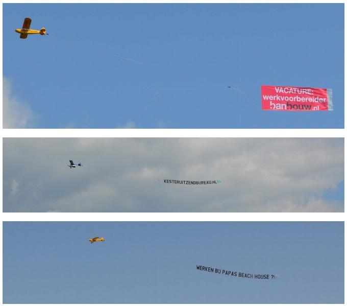 Feel Good Friday: Wervingscampagnes ook steeds vaker letterlijk de lucht in