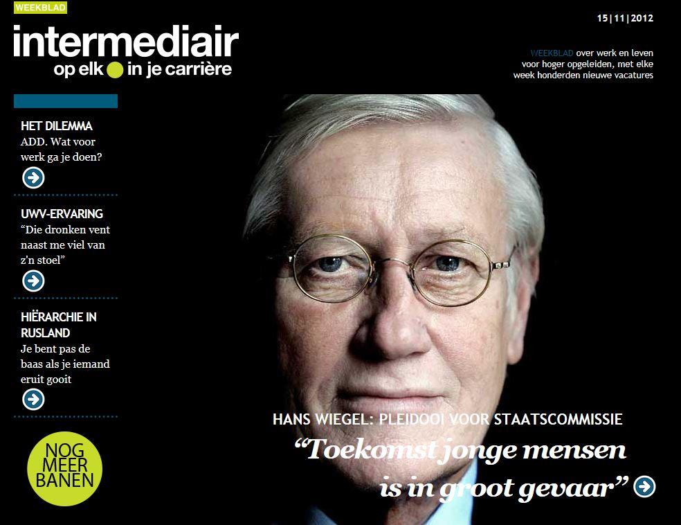 Online versie Intermediair grootste digitiale weekblad